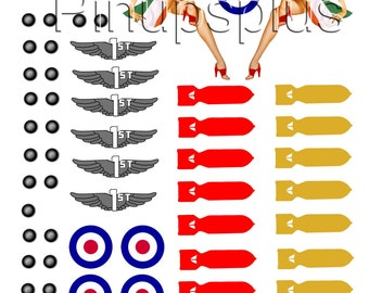 Pinup GIRL Model Building Nose Art decal 1:48 scale #30