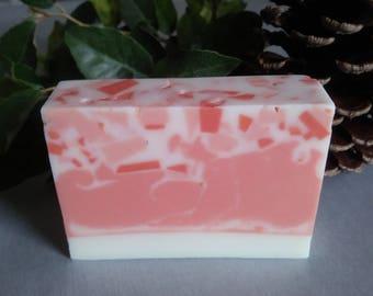 Handmade Soap White and Peach Yuzu Fragrance