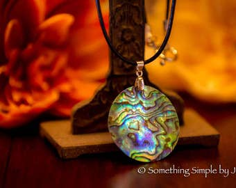 Multi Abalone necklace