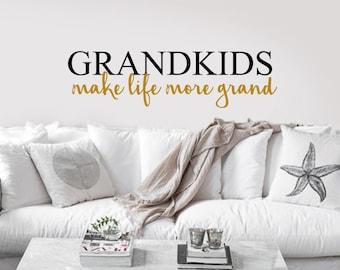 Grandkids Decal   Etsy