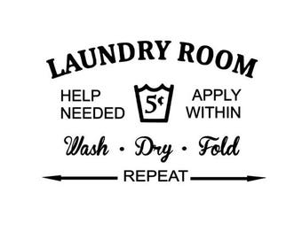 Laundry Room Wall Decal - Laundry Room Decor