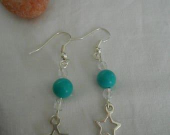 BO 404 - Turquoise star earrings