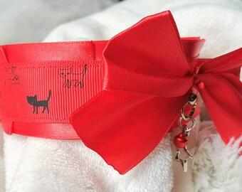 Red Kitten's Kitten Play Collar