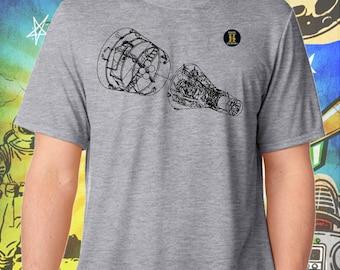 Space Exploration / Project Gemini / Men's Gray Performance T-Shirt