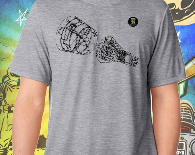 Space Exploration / Project Gemini / Men's Gray Performance T-Shirt