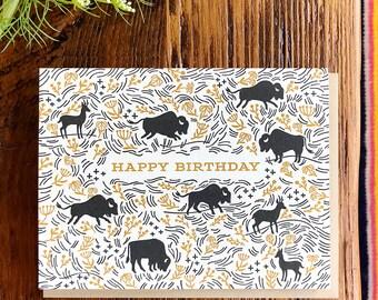 Prairie Letterpress Birthday Card