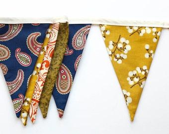 Boho Banner, Boheme Bunting, Fabric Banner, Photography Prop, Home Decor