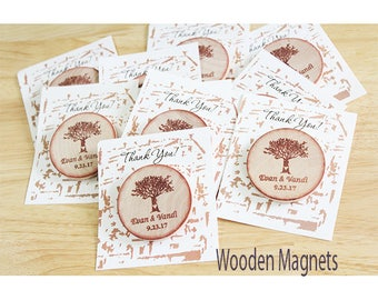 rustic save the date magnets Wedding  ,magnets favors Wood  Custom Magnets Personalized  Save the dates love