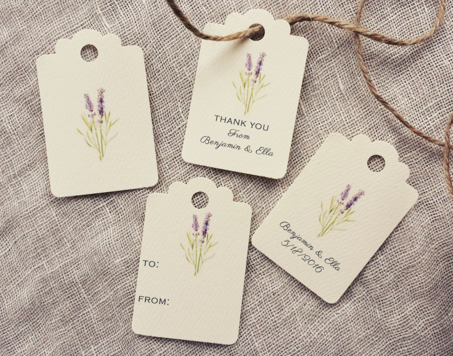 Favor Tag Gift Tag Lavender Wedding from KayleighDuMond on Etsy Studio