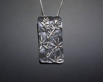 Silver Wildflower Necklace // Lupine Pendant