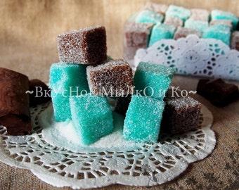 "Sugar scrub for body ""Chocolate and mint"""