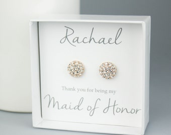 Bridesmaids Gifts, Bridal Party Gift, Bridesmaids Earrings, Personalized Bridesmaids Gift, Bridesmaid Jewelry, Bridesmaid Earrings