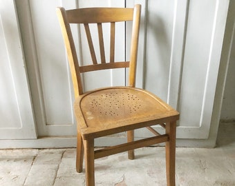 Vintage French Bistro Chair / vintage bistro chair / french vintage chair / cafe chair / dining chairs / baumann style chairs