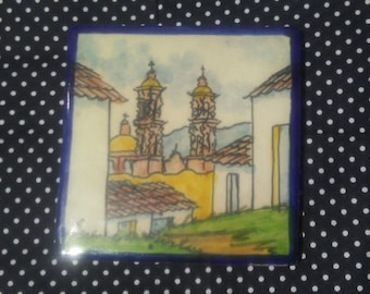 Handpainted 6x6 Ceramic Tile made in Mexico