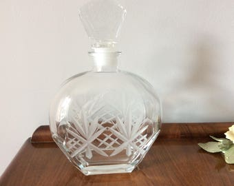 Cut Glass Crystal Decanter