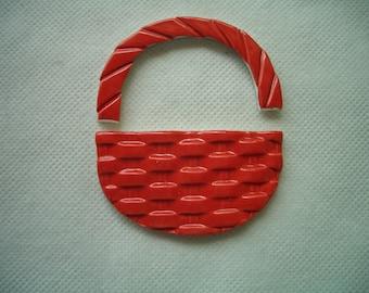 G2 - Red MOSAIC BASKET - Ceramic Mosaic Tiles