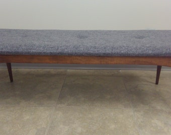 Mid century reupholstered bench