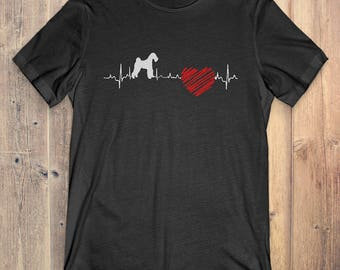 Airedale Terrier Dog T-Shirt Gift: Airedale Terrier Heartbeat