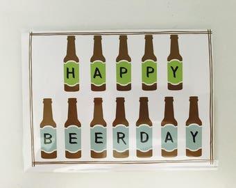 Happy Beerday card