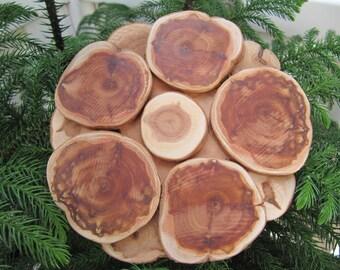 Sale, Natural Juniper Wood Trivet, Wood Coaster, Wooden Coaster, Wooden Trivet, Juniper Hot Plates, Natural Wood Trivet