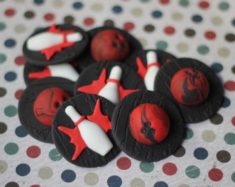 Fondant Toppers Bowling -Themed - Perfect for Cupcakes, Cookies and Other Creations