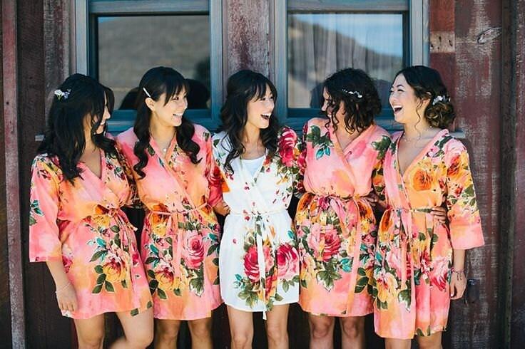 Kimonos for Bridesmaids – Fashion dresses