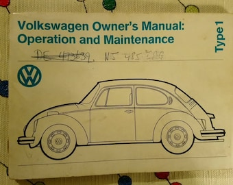 1974 Volkswagen Owner's Manual
