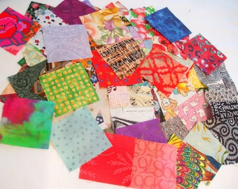 "2 1/2"" Cotton Fabric Squares"