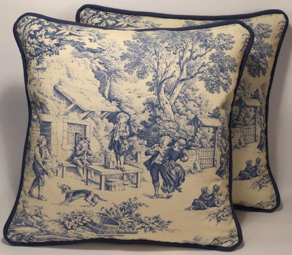 40 Toile Throw PillowsBlue PillowsDecorative Pillows40 Magnificent Toile Decorative Pillows