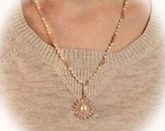 Sunrise Pendant Necklace