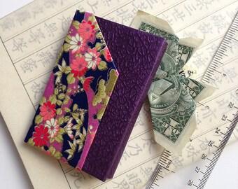 Paper Geometry Wallet (purple pattern)
