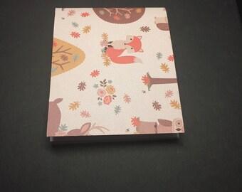 Fox Mini Notebook - Owl Mini Notebook - Forest Animals Notebook - Small Notebook - Small Notepad