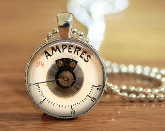 Steampunk Dial Pendant, Steampunk Meter, Industrial Gauge, Vintage Industrial, Industrial Meter, Vintage Gauge Reproduction, Unisex