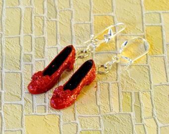 Ruby Slippers Earrings - Wizard of Oz Earrings - Wizard of Oz Jewellery