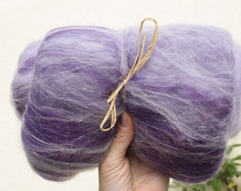 Magician - Hand blended batt - Wool and Angelina - 100g for spinning or felting