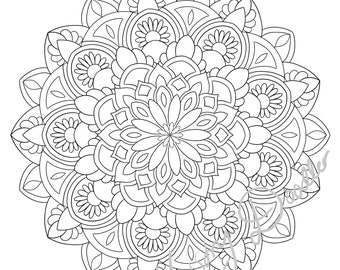 Adult Coloring Pages - Mandala's x 4- Printable coloring page for adults - set 2