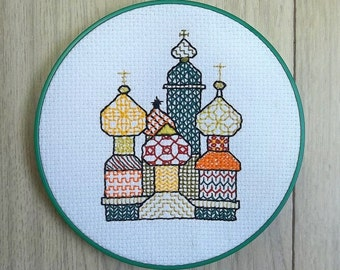 "Holbein Embroidery ""Colorful Onion Domes"""