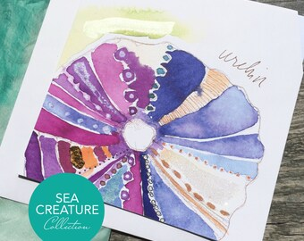 Sea Urchin Art Card - Sea Creature Collection