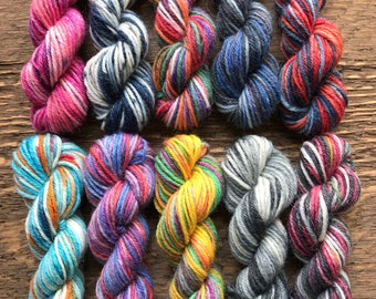 OPAL Sock Yarn Mini Skein Set #3 -- 10 Mini Skeins/25 Yards Each