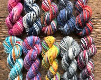 OPAL Sock Yarn Mini Skein Set #3 -- 10 Mini Skeins/25 Yards Each