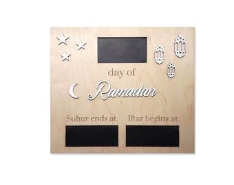 Blackboard day of Ramadan suhur Iftar to hang or stand