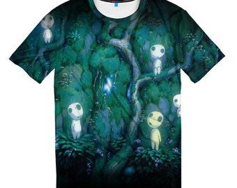 Princess Mononoke 3D T-shirt, Men's Women's All Sizes