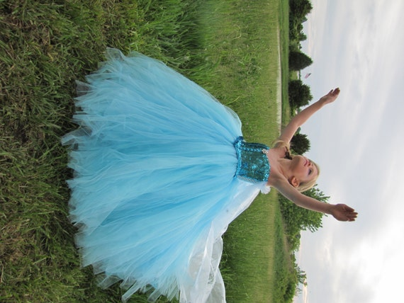 Elsa Kostüm Frozen Kostüm gefrorene Kleid Elsa Kleid