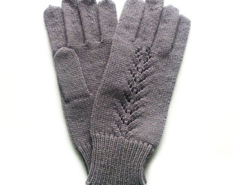 Women's knitted lambswool Gloves/winter mittens/gray/white/black/lace/woolen gloves
