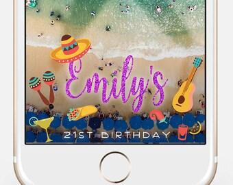 Snapchat Filter Birthday, Snapchat Geofilter, Birthday Geofilter, Taco Snapchat, Filter, Mexican Fiesta Theme Snapchat Filter mx01