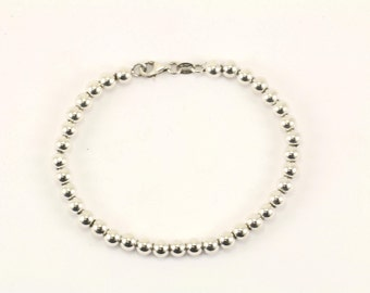 Vintage Italy Small Beads Bracelet 925 Sterling BR 2171