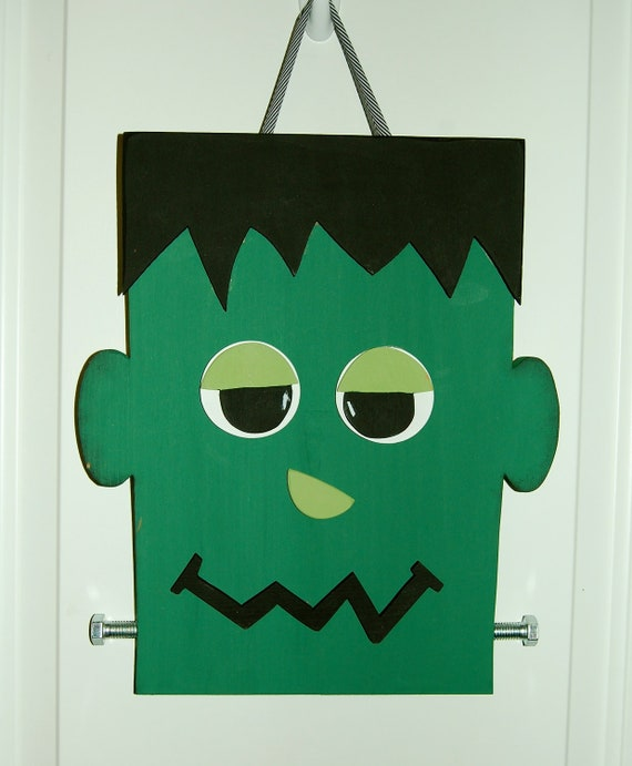 & Items similar to Frankenstein Halloween Door Hanger on Etsy