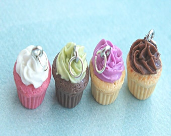 scented cupcake necklace- miniature food jewelry, cupcake jewelry