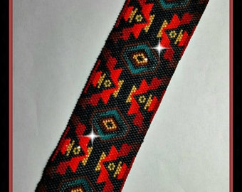 Peyote - Bliss - BP-PEY-089-2015-149 - Peyote PATTERN, beadweaving pattern, Peyote Bracelet Pattern, beaded bracelet, bracelet pattern