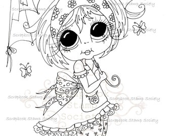 INSTANT DOWNLOAD Digital Digi Stamps Big Eyed  My Bestie Digi Stamp Besties Big Head Dolls Digi IMG753 By Sherri Baldy